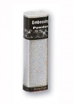 Silver glitter embossing powder at paperwishes.com