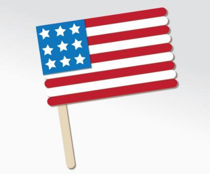 Popsicle stick flag craft