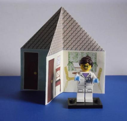 4 room dollhouse - step 3