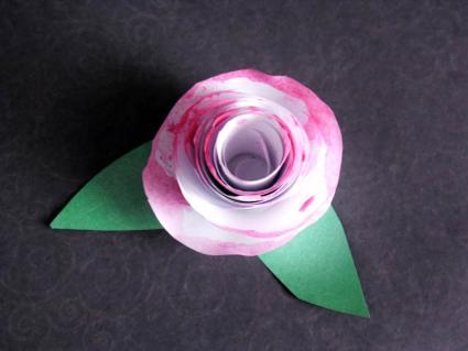 paper rose step 3