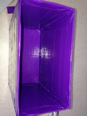 Duct tape purse interior