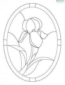 Stained Glass Pattern flower 1