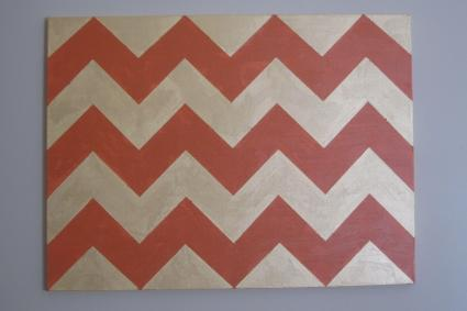 finished chevron canvas