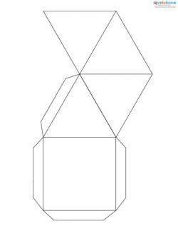 paper pyramid with a square base