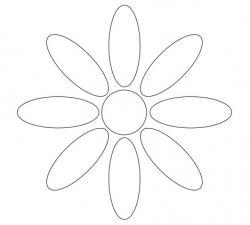 Black and white printable flower