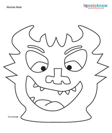 mosnter template - halloween printable crafts
