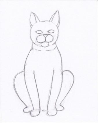 cat drawing step 4