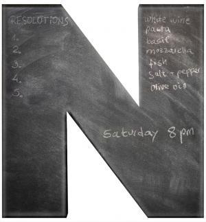 chalkboard initial
