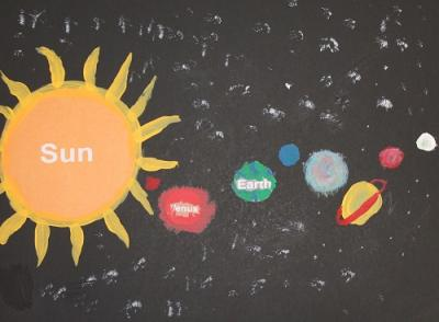 image of solar system placemat project