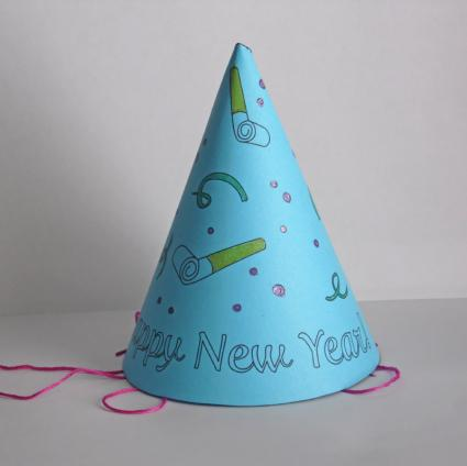 paper party hats Materials - paper party hats - tissue paper - ribbon - string - candy/confetti - glue stick - scissors steps - remove string from party hats - add 2 pieces of ribbon (each about 5 inches in length) through the opening of the hat.