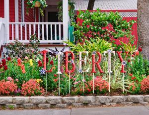whimsical Memorial day garden sign