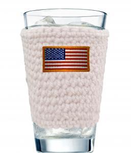 patriotic glass cozy