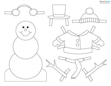 Free snowman craft patterns lovetoknow for Snowman paper chain template