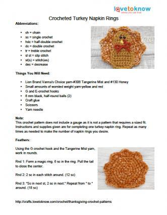 turkey napkin ring tutorial