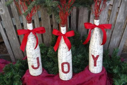 Joy wine bottle craft