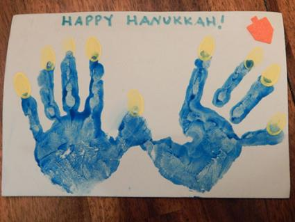 hanukkah handprint craft