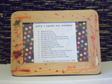 picture frame birthday gift