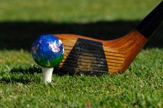 Decorated golf ball