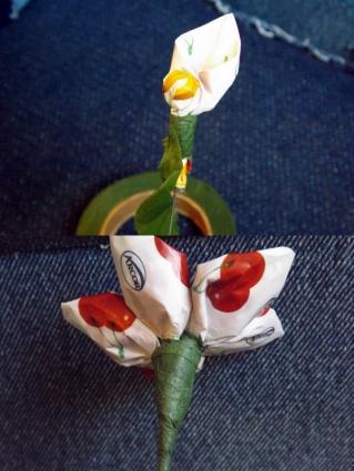 Attach petals to center.