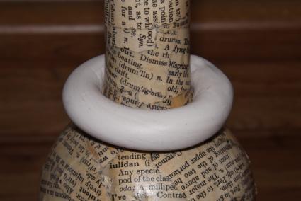 Make a clay ring.