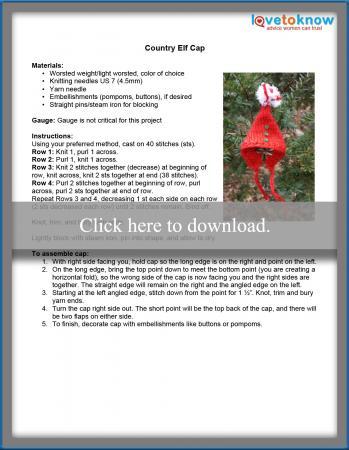 Elf Cap Instructions