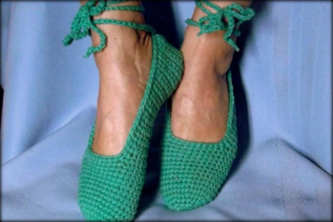 Crochet Ballet Slippers Pattern