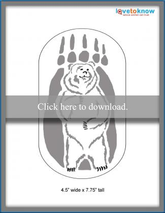 scroll saw bear pattern