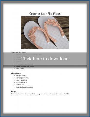 Crochet Star Flip Flops Pattern