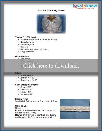 Crochet Wedding Shawl Pattern