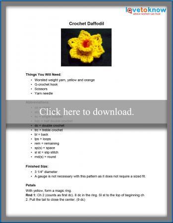 Crochet Daffodil