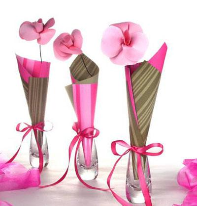 crafty handmade flowers make lovely party decorations - Party Decorations Cheap