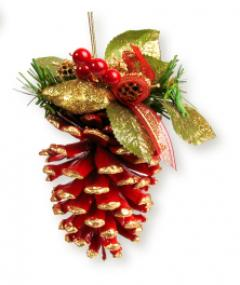 Christmas ornament crafts lovetoknow Homemade christmas decorations using pine cones