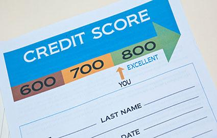 Credit score results