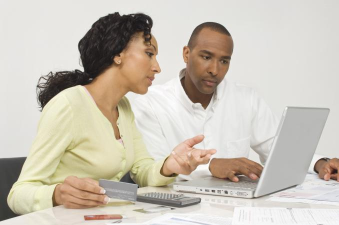 Couple Figuring out Finances