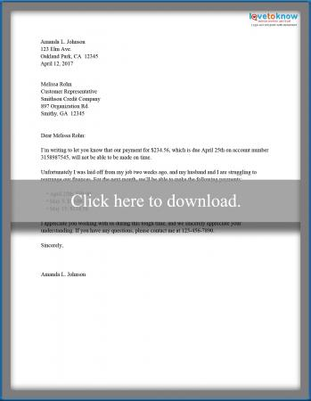 Sample Late Payment Letters