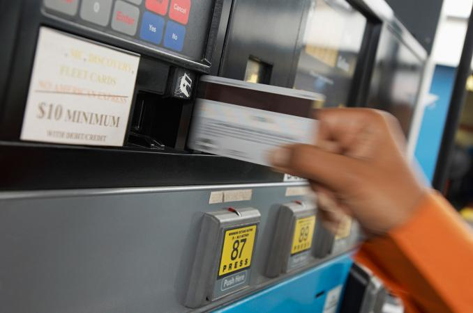 Purchasing fuel with prepaid card