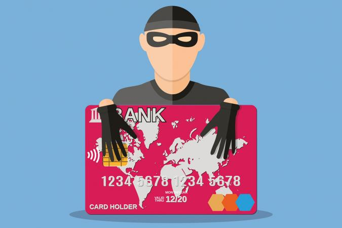 Thief with credit card