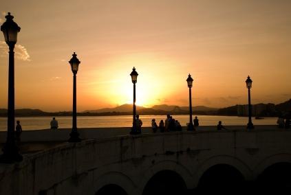 Panama Canal Sunset