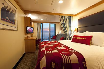Disney Dream Family Oceanview Stateroom with Verandah