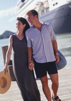 Couple on shore excursion