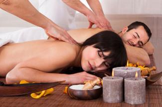 couple having massage