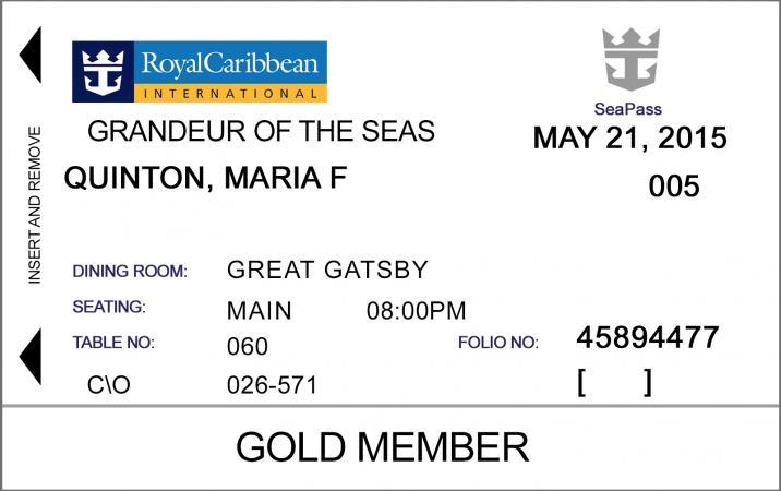 Royal Caribbean ID Card