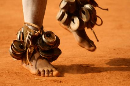 An African Dancer's Feet