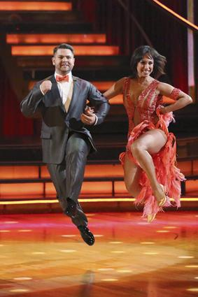 Cheryl Burke with partner Jack Osbourne on Dancing with the Stars
