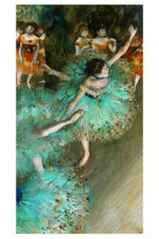 Green Dancer - Degas, c.1880