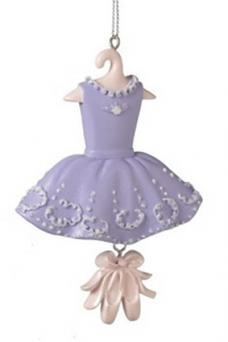 Purple Ballerina Ornament