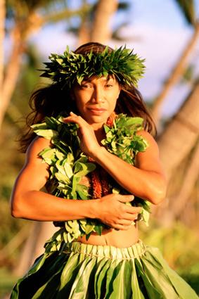 Traditional Hawaiian Dancer