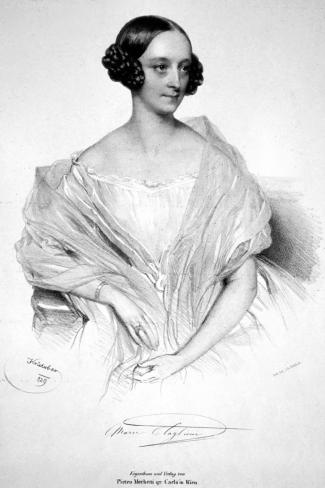 Marie Taglionia lithograph by Josef Kriehuber