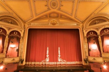 Royal Red Theater Curtain