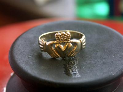 An Irish Claddagh Ring